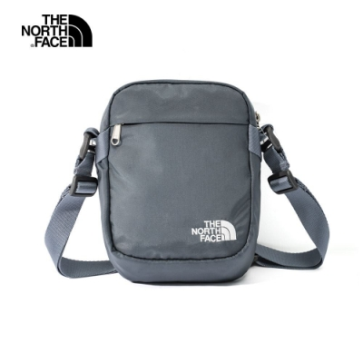 THE NORTH FACE 輕巧LOGO休閒斜背包 灰藍-NF0A3BXBUBS