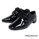 Tino Bellini 簡約風尚品味漆皮緞帶皮鞋 _ 黑