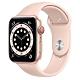 Apple Watch Series 6 (GPS+行動網路) 44mm 金色鋁金屬錶殼+粉沙色錶帶(MG2D3TA/A) product thumbnail 1