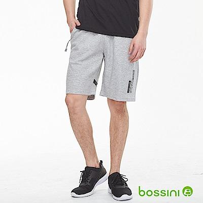 bossini男裝-針織休閒短褲01淺灰