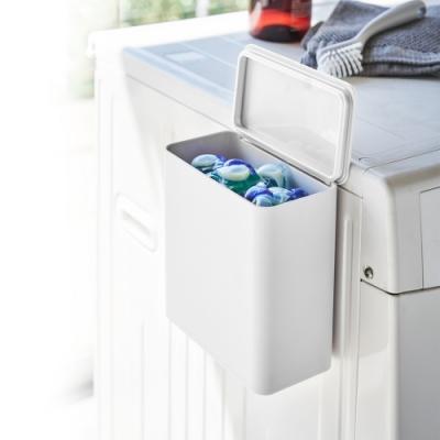 日本YAMAZAKI-tower磁吸式洗衣球收納盒(白)★居家收納/收納箱/磁吸式