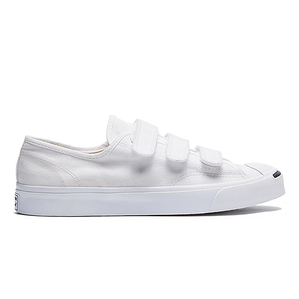 CONVERSE JP 3V OX 魔鬼氈帆布鞋 中 白 164601C