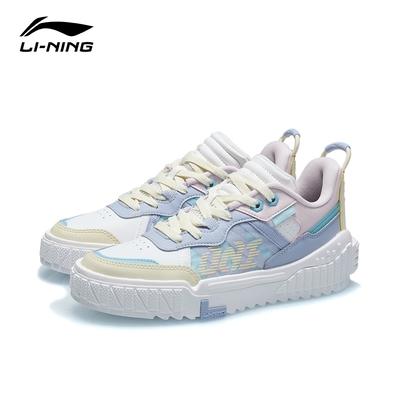 LI-NING 李寧 001 Unblock女子經典休閒鞋 雲霧白/淺光藍/弱粉紅 AGCR152-2