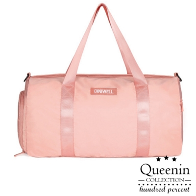 DF Queenin日韓 - 乾濕分離獨立鞋袋肩斜背旅行健身包-共2色