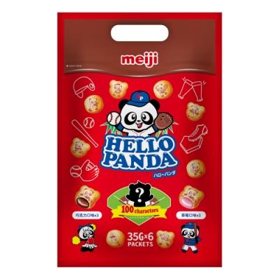 明治 貓熊夾心餅乾雙口味袋裝-巧克力、草莓口味(210g)