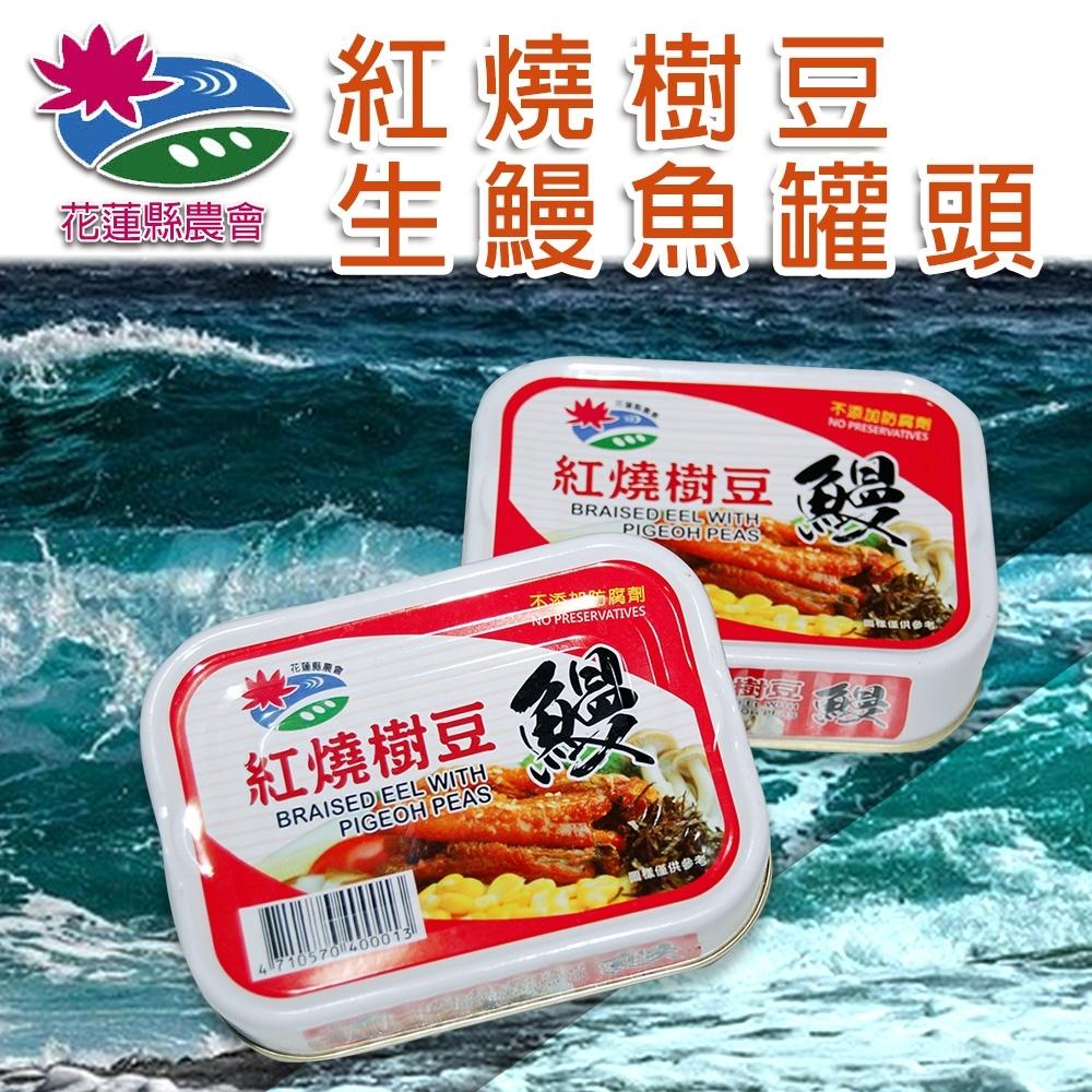 【花蓮縣農會】紅燒樹豆生鰻魚罐頭 ( 100g / 24罐 / 箱  x1箱)