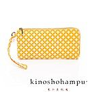 kinoshohampu貴族和柄帆布手拎包 七寶黃