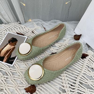 KEITH-WILL時尚鞋館 流行穿搭森系優雅方頭鞋-綠