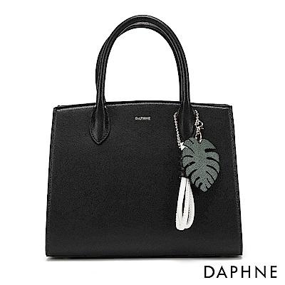 達芙妮DAPHNE-趣味撞色繩結手提多用包-黑