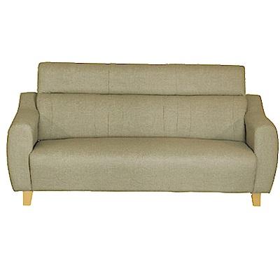 綠活居 艾凱蒂時尚灰貓抓皮革三人座沙發椅-194x79x95cm免組