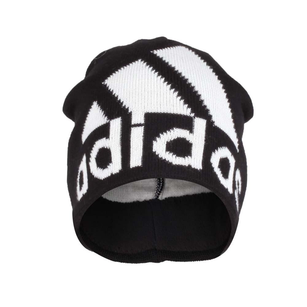 ADIDAS 運動毛帽 黑米白