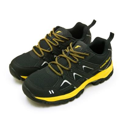 GOODYEAR 固特異 專業多功能郊山戶外越野健行鞋 黑黃 93514