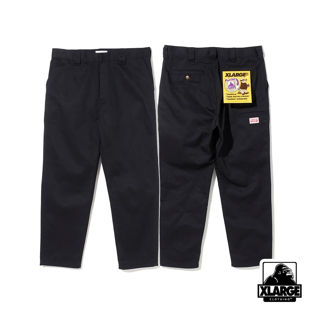 XLARGE SIDE POCKET WORK PT工作褲-黑色