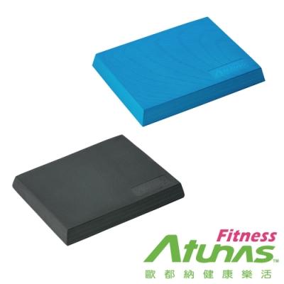 【ATUNAS歐都納FITNESS】健身塑身有氧止滑瑜珈平衡Q墊MBP20黑/翠藍
