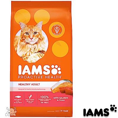 IAMS 愛慕思 健康優活 鮭魚+鮪魚 成貓糧 3.5磅 2包組