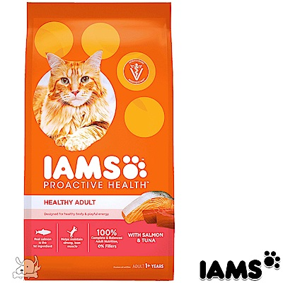 IAMS 愛慕思 健康優活 鮭魚+鮪魚 成貓糧 7磅