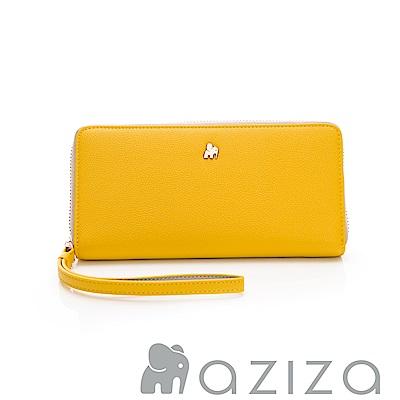 AZIZA  拉鏈長夾-黃