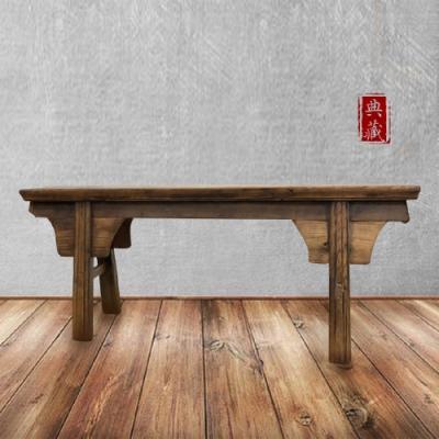 [E-home]文藝復興實木長板凳002