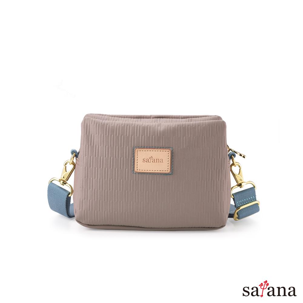 satana - Lady First 風格斜肩包 - 玫瑰棕
