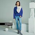 H:CONNECT 韓國品牌 女裝-下擺造型雙口袋襯衫-紫