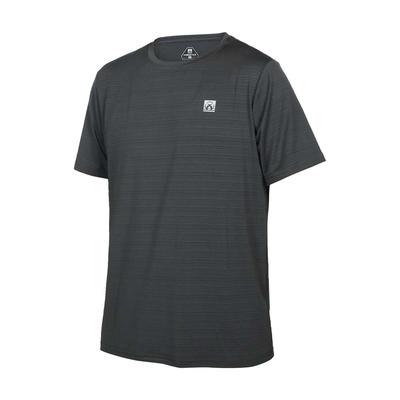 FIRESTAR 男彈性機能短袖圓領T恤-慢跑 路跑 涼感 運動 上衣 D1733-16 灰銀