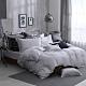 OLIVIA  Mars 銀灰 特大雙人床包兩用被套四件組 300織銀纖維天絲萊賽爾 台灣製 product thumbnail 1