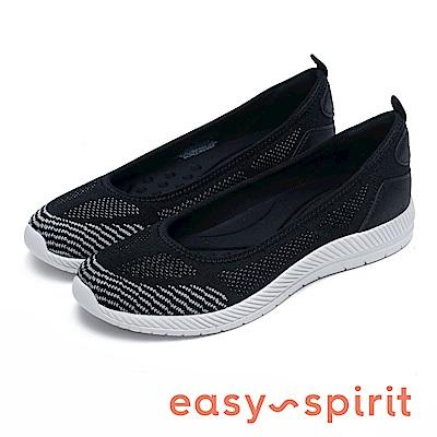 Easy Spirit GEINEE 針織透氣墊平底鞋-黑色
