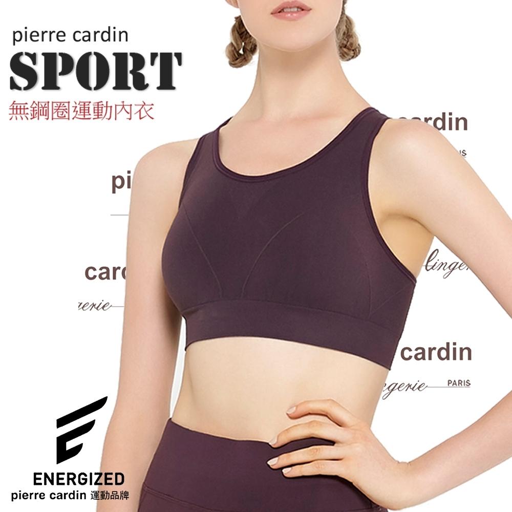 【 PierreCardin皮爾卡登】強力360˚無縫透氣運動女內衣.瑜珈挖背背心.PL2363S