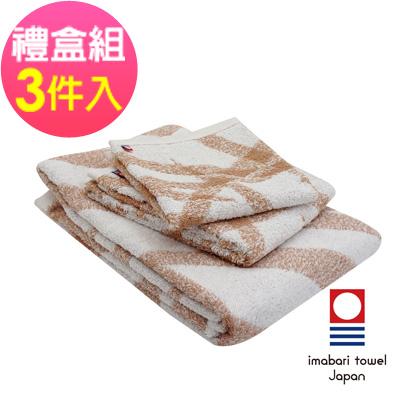 日本今治  純天然有機棉無染色方毛浴巾禮盒組-絲帶-粉藕紅