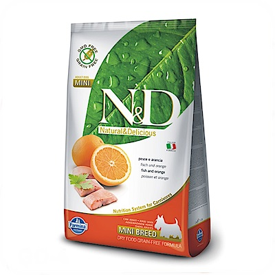 法米納 天然無榖糧 全齡犬 鯡魚甜橙 (小顆粒) 7KG【GD-4】