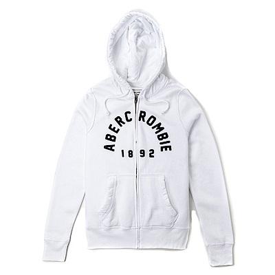 麋鹿 AF 限定款經典刺繡標誌連帽外套(女)-白色