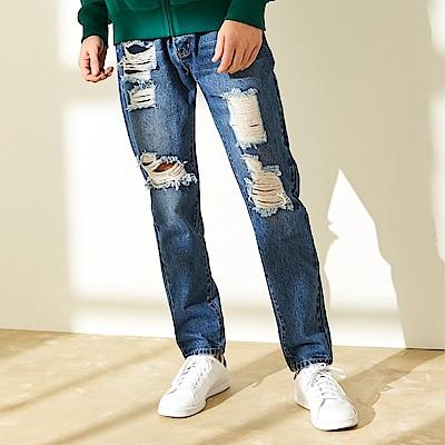 CACO-破壞補丁牛仔褲-男【QAR125】