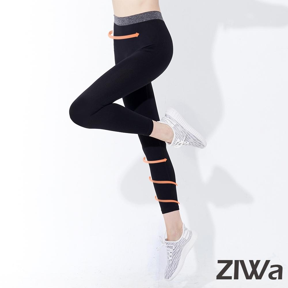 ZIWA 高透氣親肌無縫加襠彈力褲(黑色)
