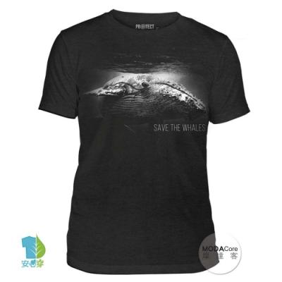 摩達客-美國The Mountain保育系列 拯救鯨魚 中性短T恤 柔軟高級混紡