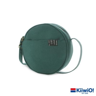 Kiiwi O! 日系百搭帆布兩用圓圓包 DORIS 綠
