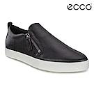 ECCO GILLIAN 質感時尚尖頭拉鍊懶人鞋 女-黑