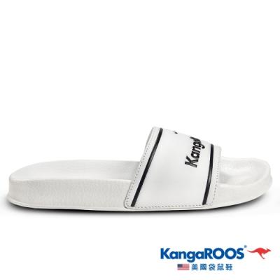 KangaROOS 美國袋鼠鞋 女 ICON SLIDE 休閒涼拖鞋(白-KW01659)