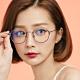 ALEGANT日本設計純灰輕量鈦金屬質感圓框UV400濾藍光眼鏡│莫內的印象光影 product thumbnail 1