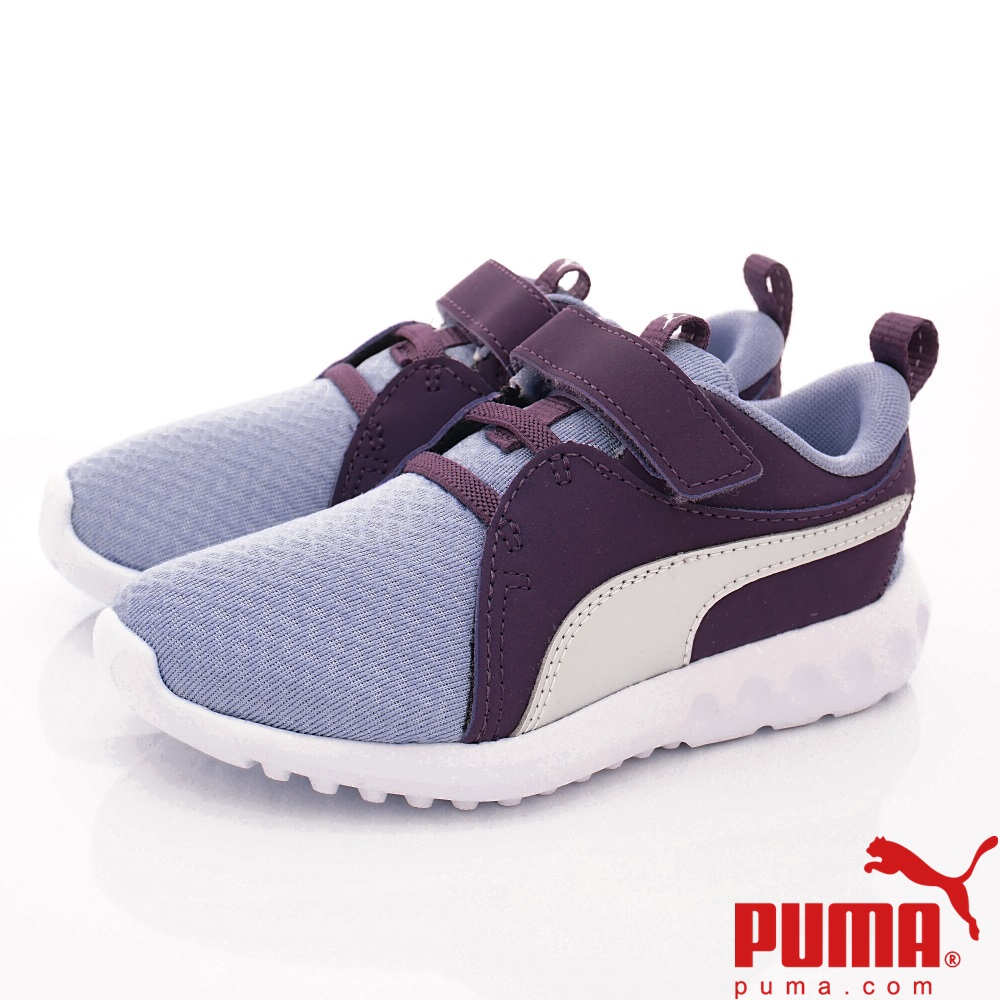 PUMA童鞋 蜂巢透氣慢跑款 ON92321-01紫(中小童段)