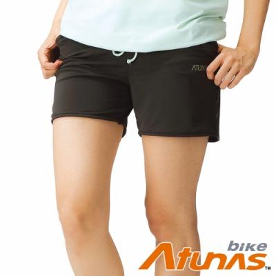 【ATUNAS 歐都納】女款吸濕排汗休閒居家運動短褲B26003WZ2軍綠/零碼出清