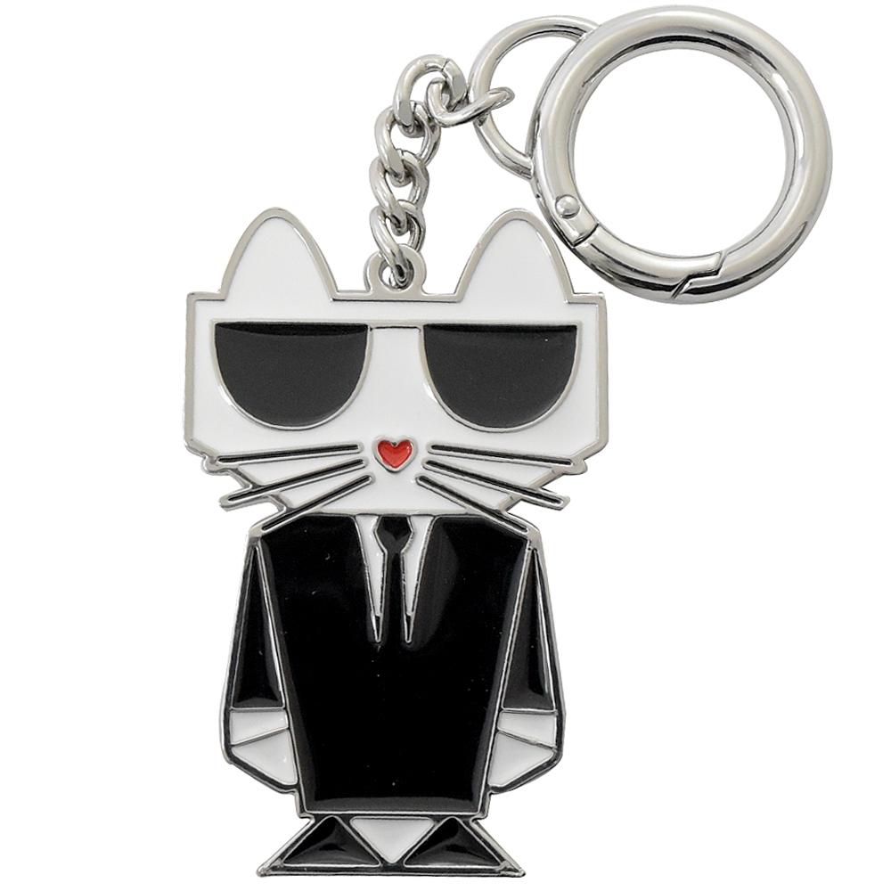 KARL LAGERFELD 貓咪公仔造型金屬鑰匙圈