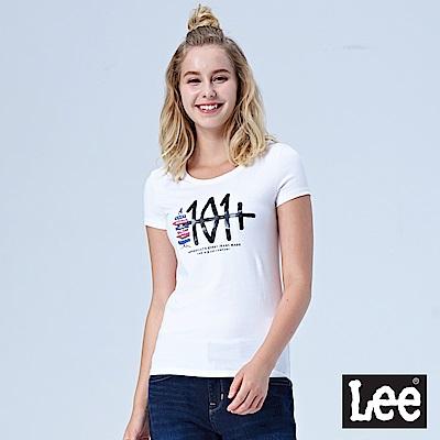 Lee 101+短袖圓領TEE-白色