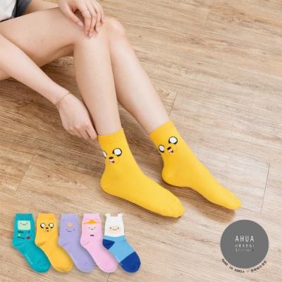 阿華有事嗎 韓國襪子 全版探險活寶中筒襪 韓妞必備長襪 正韓百搭卡通襪