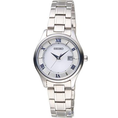 SEIKO精工SPIRIT簡約羅馬太陽能鈦金屬女腕錶(STPX063J)