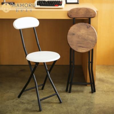 【MAMORU】和風木紋厚板靠背折疊椅(摺疊凳/戶外椅/花園椅/餐椅)