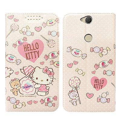 凱蒂貓 SONY Xperia XA2 Plus 粉嫩系列彩繪磁力皮套(軟糖)