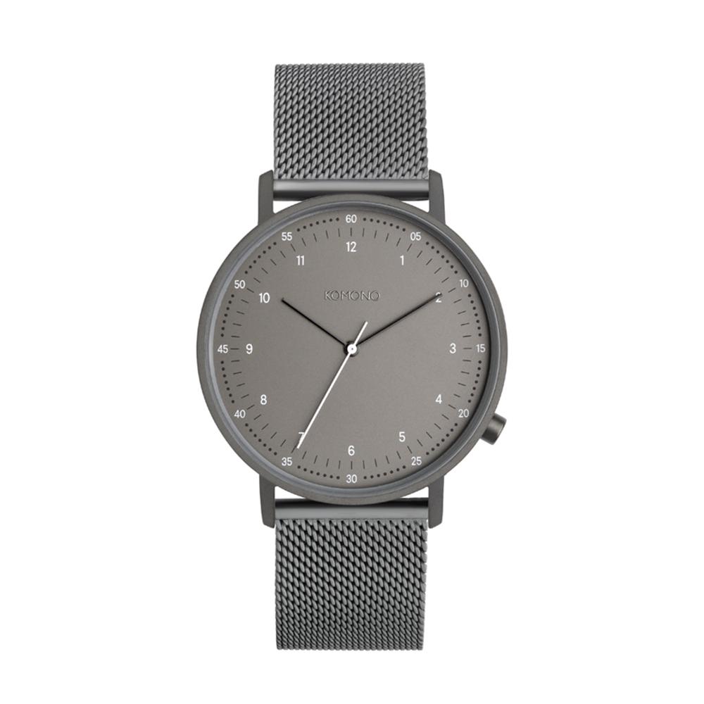 KOMONO Lewis Mesh 手錶-低調灰/36mm