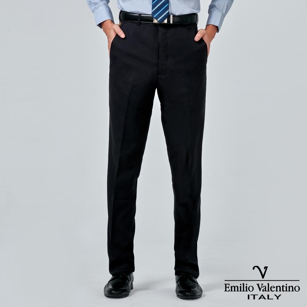 Emilio Valentino 范倫提諾彈力平面西褲-丈青
