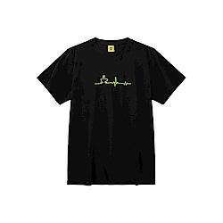 CACO-MIT咖啡心電圖短T(兩色)-男【SCA007】