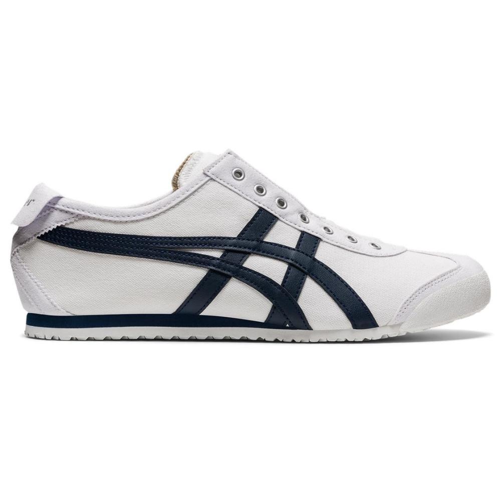 Onitsuka Tiger鬼塚虎- MEXICO 66 SLIP-ON 休閒鞋 1183A360-109 白底藍邊